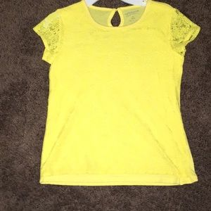 Yellow summer shirt with Lacey pattern